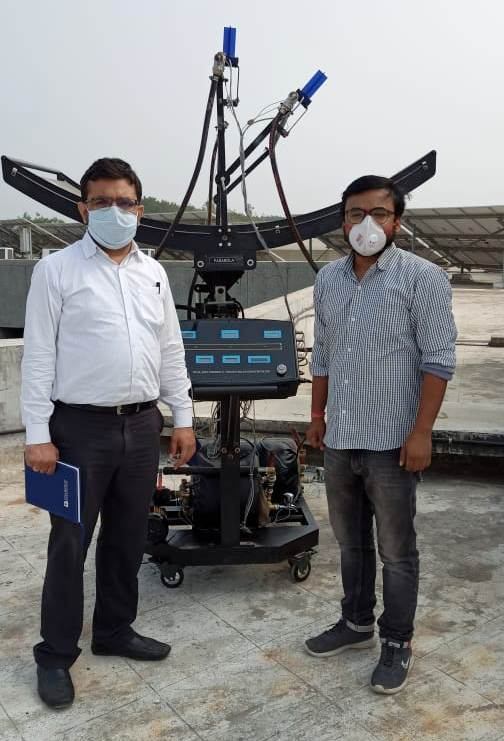 Professors of CHARUSAT with Ecosense's Engineer posing for photograph while master's program