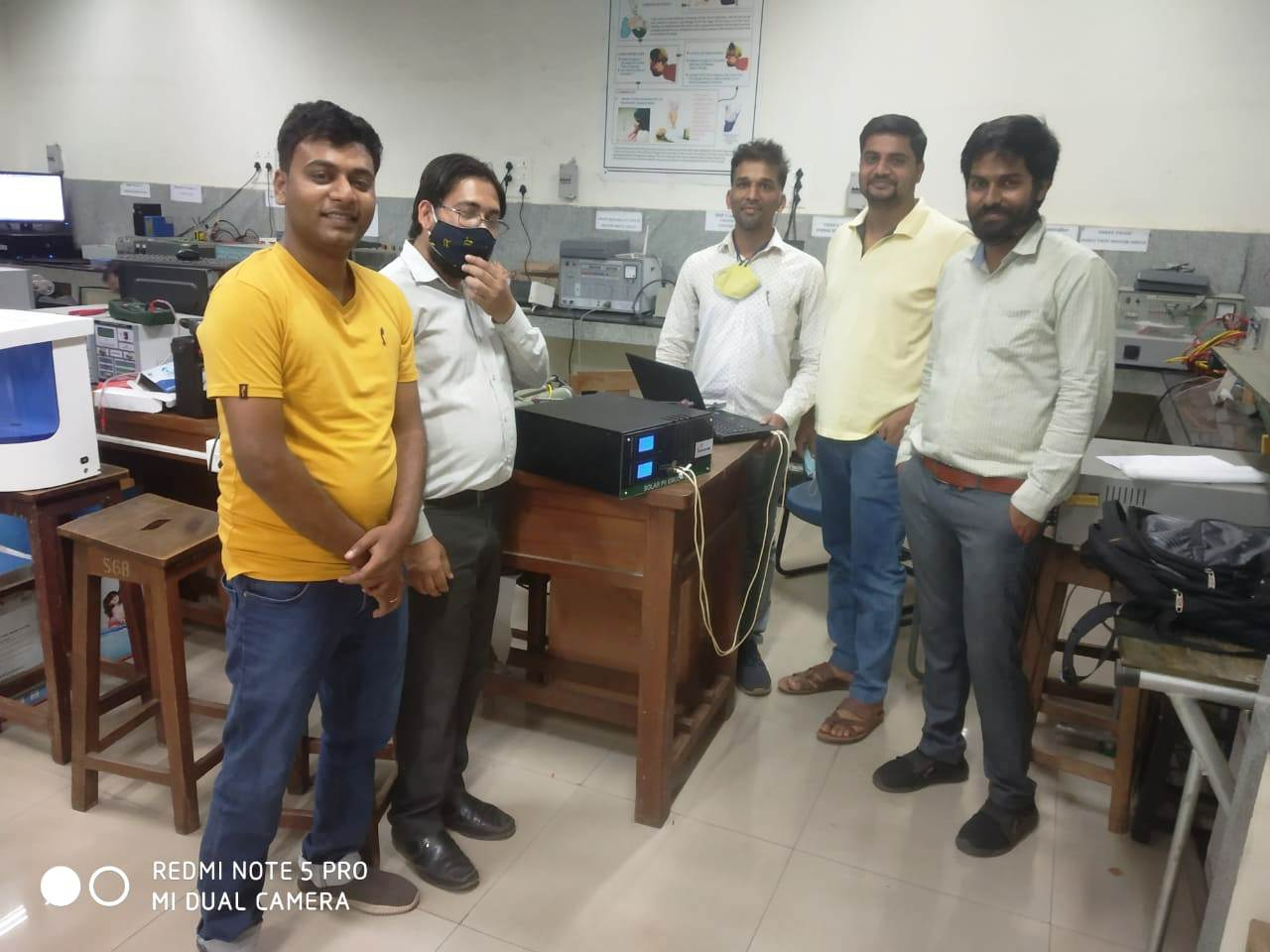 Ecosense Engineer interacting with faculty