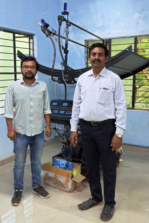 Professor of PSN College of Engineering and Technology, Tirunelveli, Tamil Nadu, with Ecosense's Engineer posing for photograph while master's program
