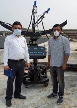 Ecosense Installs Solar Parabolic Trough System at Department of Mechanical Engineering, CHARUSAT