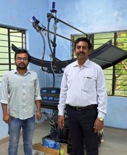 Ecosense Installs Solar Thermal Parabolic Trough Training System at Department of Mechanical Engineering, PSN College of Engineering and Technology, Tirunelveli, Tamil Nadu
